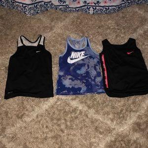 Girls Nike tank tops